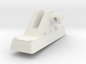 TorpedoTubeElcoPORT24thFrontSupport in White Natural Versatile Plastic