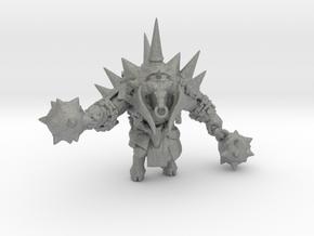 Minotaur Enforcer miniature model fantasy game dnd in Gray PA12