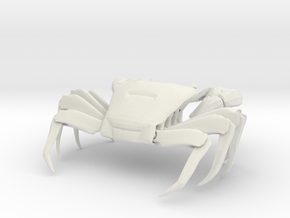 2X size Shore crab (Pachygrapsus crassipes) in White Natural Versatile Plastic