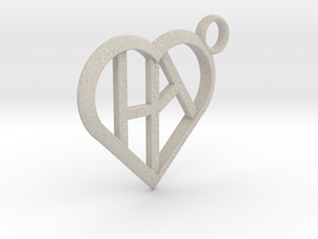 Heart of love keychain [customizable] in Natural Sandstone