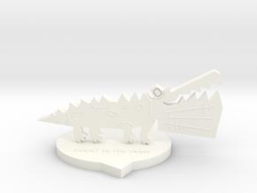 Medium STTP Souvenir [Color] in White Processed Versatile Plastic