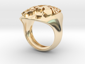 face extruded size 7 in 14K Yellow Gold