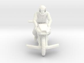 Battlestar Galactica - Motorcycle - Flying in White Processed Versatile Plastic