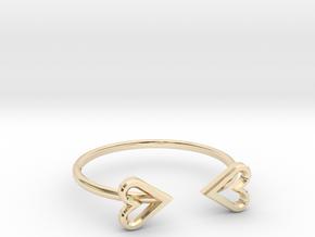 FLYHIGH: Open Heart Skinny Bracelet in 14K Yellow Gold