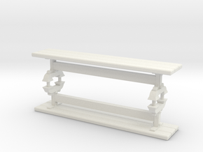 Benches for 1/24 scale Trestle Table in White Natural Versatile Plastic