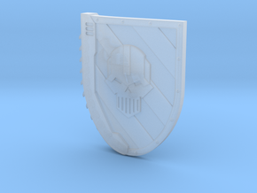 Left-handed Chainshield (Steel Skull design) in Smooth Fine Detail Plastic: Small