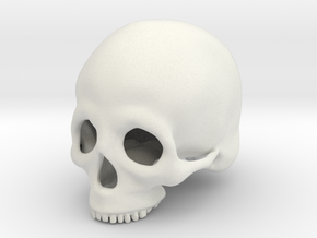 Skull Deko (small) in White Strong & Flexible