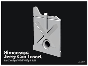Simensays Wild Willy Jerry Can Insert (v2) in White Natural Versatile Plastic