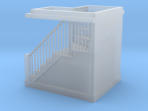 1:48 scale staircase in Smooth Fine Detail Plastic