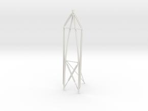 1/16 USN Pt Boat 109 Main Mast in White Natural Versatile Plastic