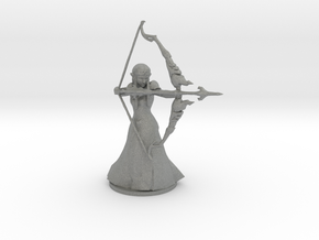 Zelda with magic bow 80mm figure fantasy model in Gray PA12