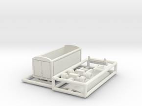 Packwagen 6,5 m - 1:160 (N scale) in White Natural Versatile Plastic