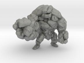 Earth Elemental 55mm miniature model fantasy dnd in Gray PA12