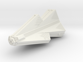 3125 Scale Tholian War Cruiser Heavy (HCW) SRZ in White Natural Versatile Plastic