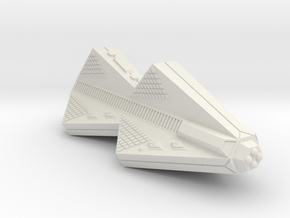 3788 Scale Tholian Police War Destroyer Carrier in White Natural Versatile Plastic