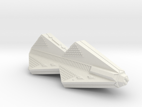 3125 Scale Tholian Police War Destroyer Carrier in White Natural Versatile Plastic