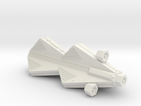 3788 Scale Tholian Police War Destroyer Scout in White Natural Versatile Plastic