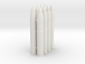 105mmHE-round-SW-1@16-X8 in White Natural Versatile Plastic: 1:16