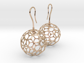 Fertilized Polyhedron Egg Earring in 14k Rose Gold