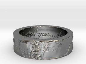 celeste sz 10.5 scaled.stl in Fine Detail Polished Silver
