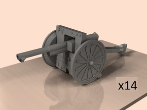 1/200 75mm French cannon m1897 in Smoothest Fine Detail Plastic