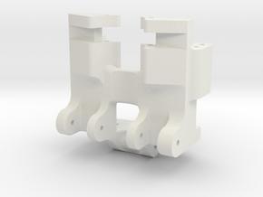 scx24 LCG servo mount in White Natural Versatile Plastic