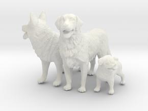1/8 Custom Dogs  in White Natural Versatile Plastic