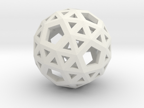 Snub Dodecahedron in White Natural Versatile Plastic