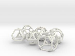 Archimedean Solids Part 1 in White Natural Versatile Plastic