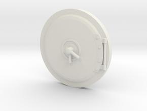 Mamod TE1 / TE1A Smokebox Door in White Natural Versatile Plastic