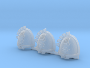 Steel Handed Warriors Gravus pads #4 L in Smooth Fine Detail Plastic