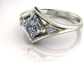 Princess Illusion set NO STONES SUPPLIED in Fine Detail Polished Silver