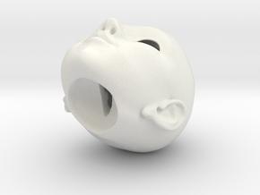 Little Anne FRONT & BACK 005B met bal zonder bal_S in White Natural Versatile Plastic