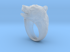 Bear ring in Smooth Fine Detail Plastic