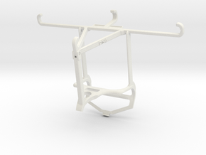 Controller mount for PS4 & vivo S9 - Top in White Natural Versatile Plastic
