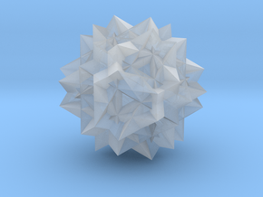 Uniform Great Rhombicosidodecahedron - 10mm in Smooth Fine Detail Plastic