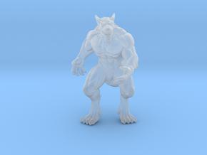 Alpha Werewolf miniature model fantasy games dnd in Smooth Fine Detail Plastic