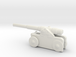 Italian 254mm cannon 1/285 6mm  in White Natural Versatile Plastic