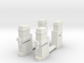Slush - Maschinen - 1:87 (H0 scale) in White Strong & Flexible