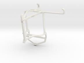 Controller mount for PS4 & Samsung Galaxy Quantum  in White Natural Versatile Plastic