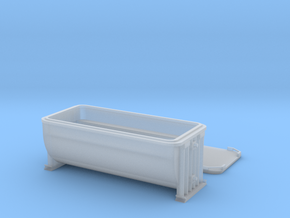 HO scale 19 foot Anvil ore container in Smooth Fine Detail Plastic