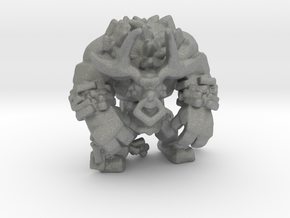 Chained Minotaur miniature model fantasy games dnd in Gray PA12
