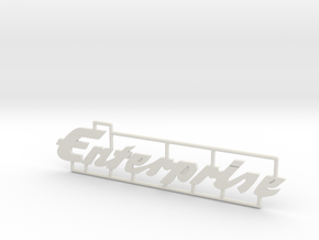 "Schild ""Enterprise"" für 1:87 (H0 scale) in White Natural Versatile Plastic"