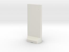 Concrete T-Wall 1/76 in White Natural Versatile Plastic