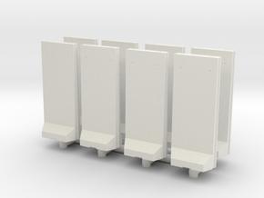 Concrete T-Wall (x8) 1/160 in White Natural Versatile Plastic