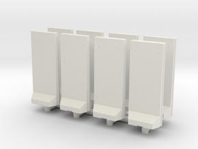 Concrete T-Wall (x8) 1/200 in White Natural Versatile Plastic