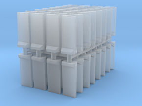 Concrete T-Wall (x64) 1/400 in Smooth Fine Detail Plastic