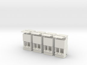 "carnival ""8 ticketboxes""  1:87 (H0 scale) in White Natural Versatile Plastic"