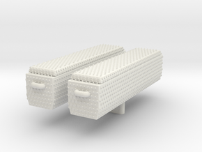 1/12 Diamond Plate Toolboxes (Set of 2) in White Natural Versatile Plastic