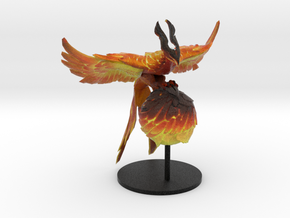 Phoenix Perched on Egg with Stand in Natural Full Color Sandstone